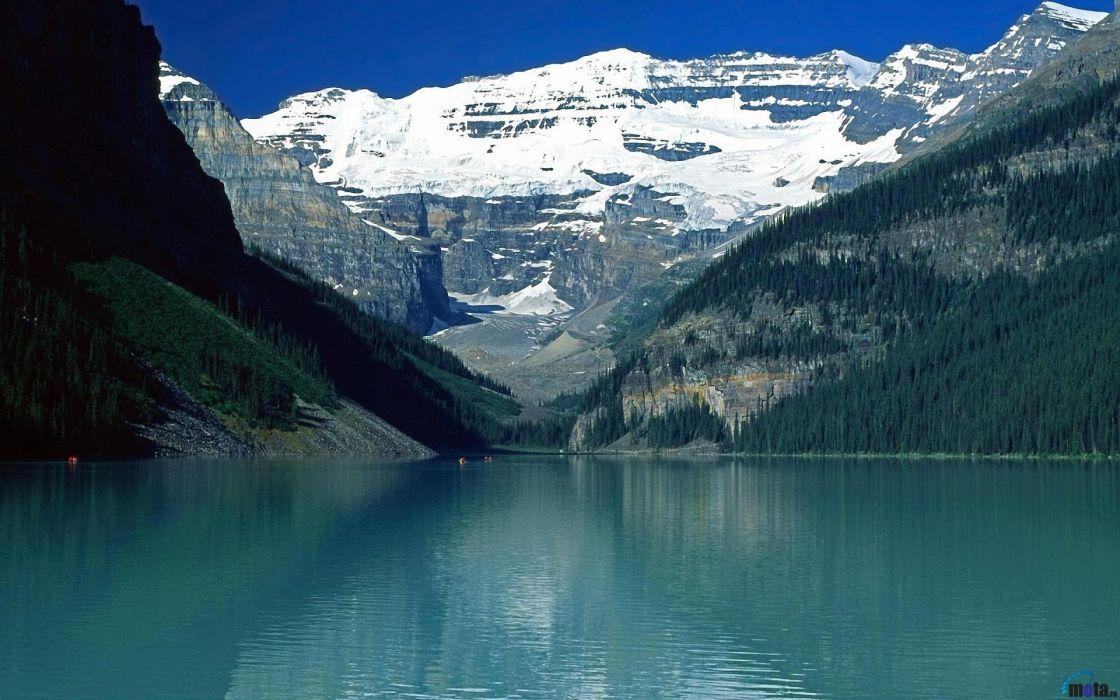 Mountains nature cyan lakes wallpaper