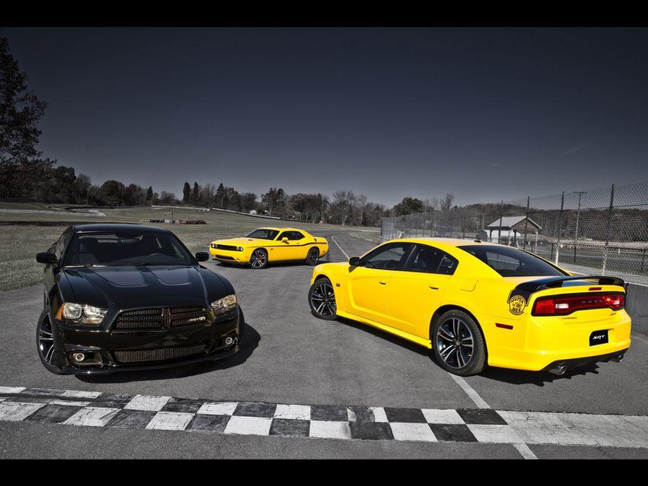 Yellow jackets dodge challenger dodge challenger srt8 yellow cars wallpaper