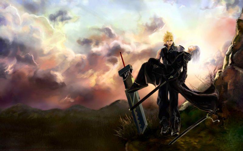 Final fantasy sephiroth cloud strife zack fair kadaj aerith gainsborough wallpaper