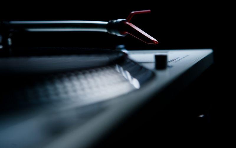 Music artistic vinyl techno turntables technics dj wallpaper
