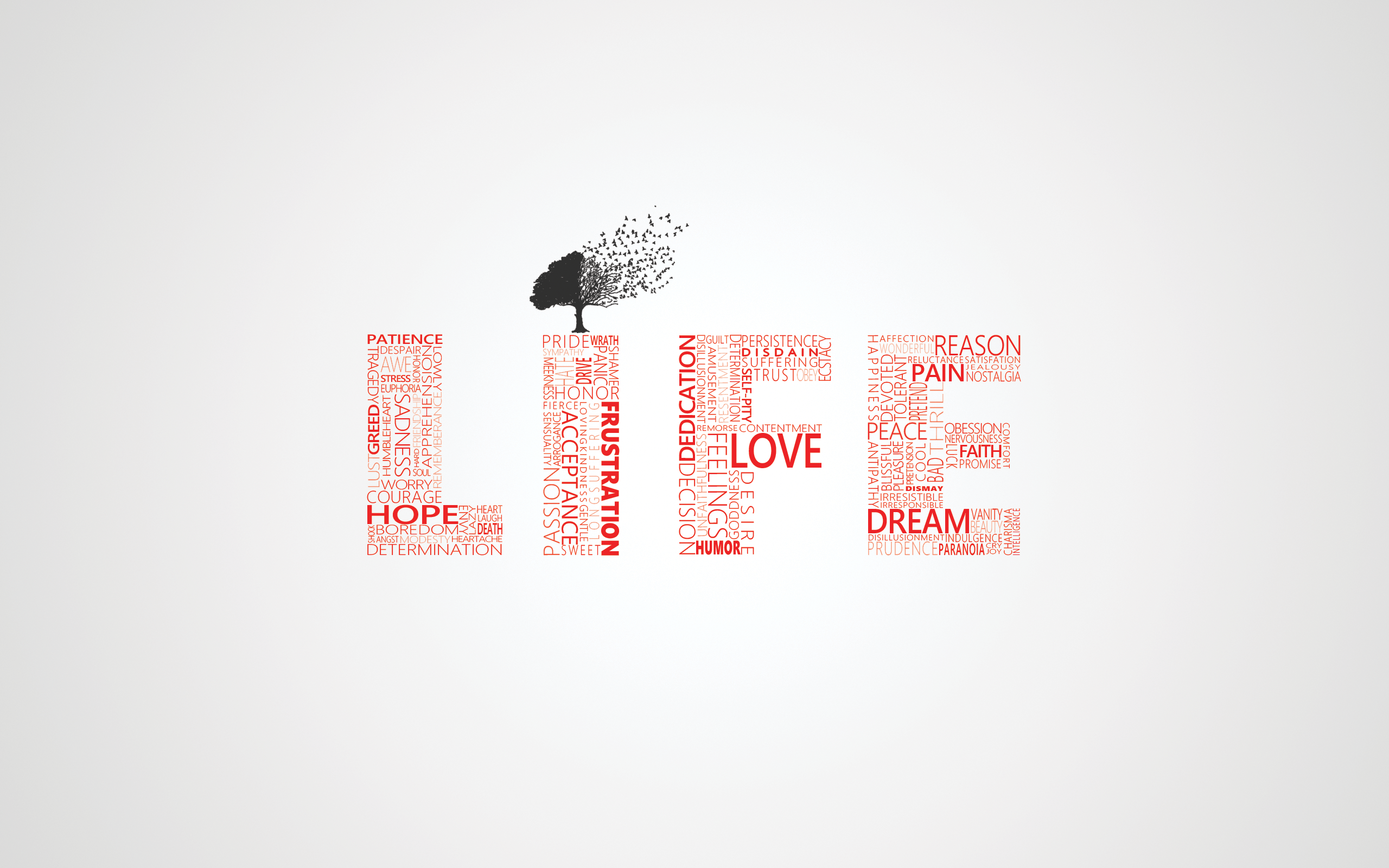 Love Trees Typography Life Wallpaper 2560x1600 14097 Wallpaperup
