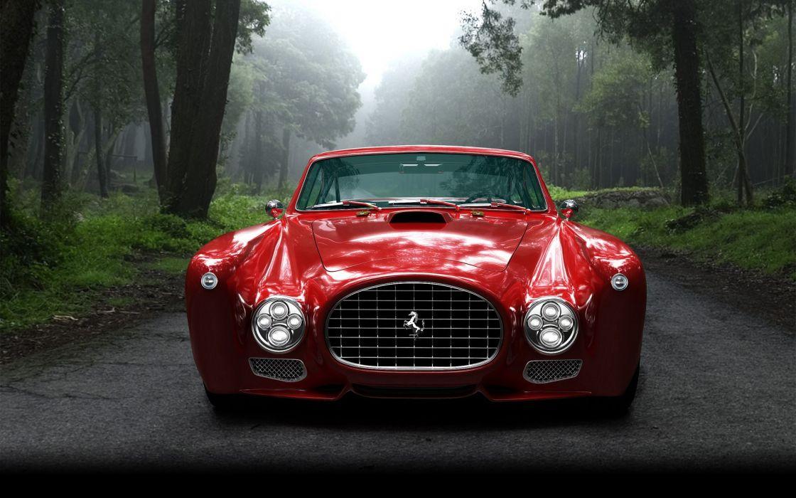 Forest ferrari red cars wallpaper