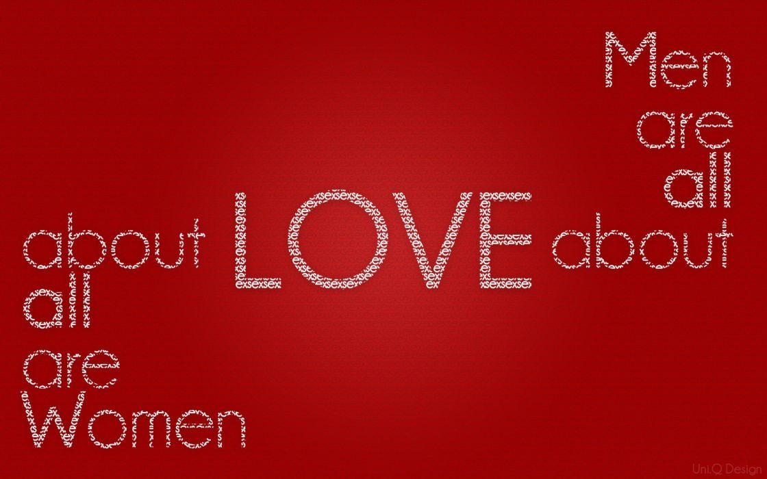 Women love design men typography uni wallpaper
