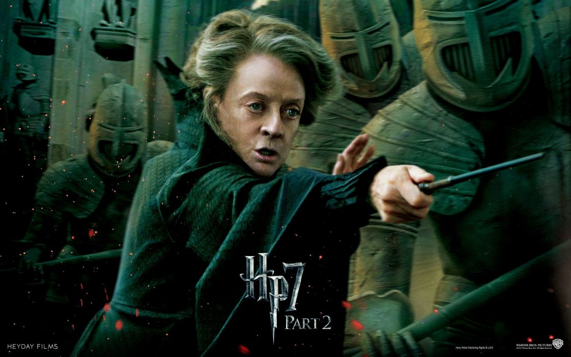 Fantasy movies knights film harry potter magic harry potter and the deathly hallows movie posters minerva mcgonagall maggie smith wallpaper