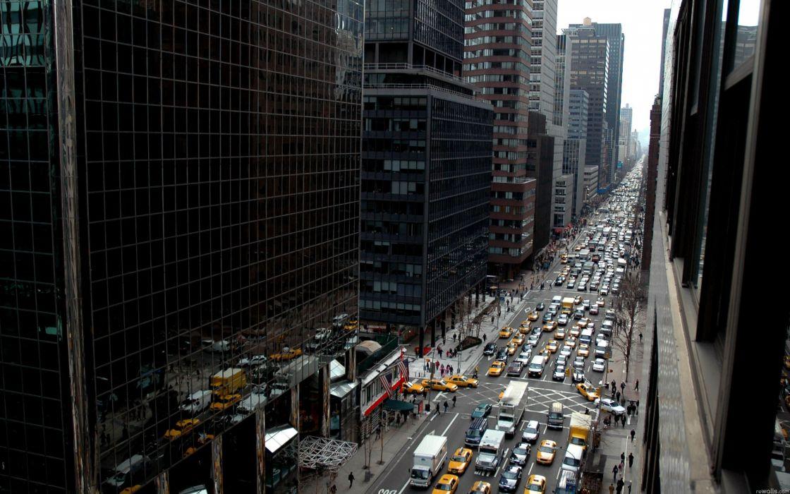 Cityscapes urban traffic wallpaper