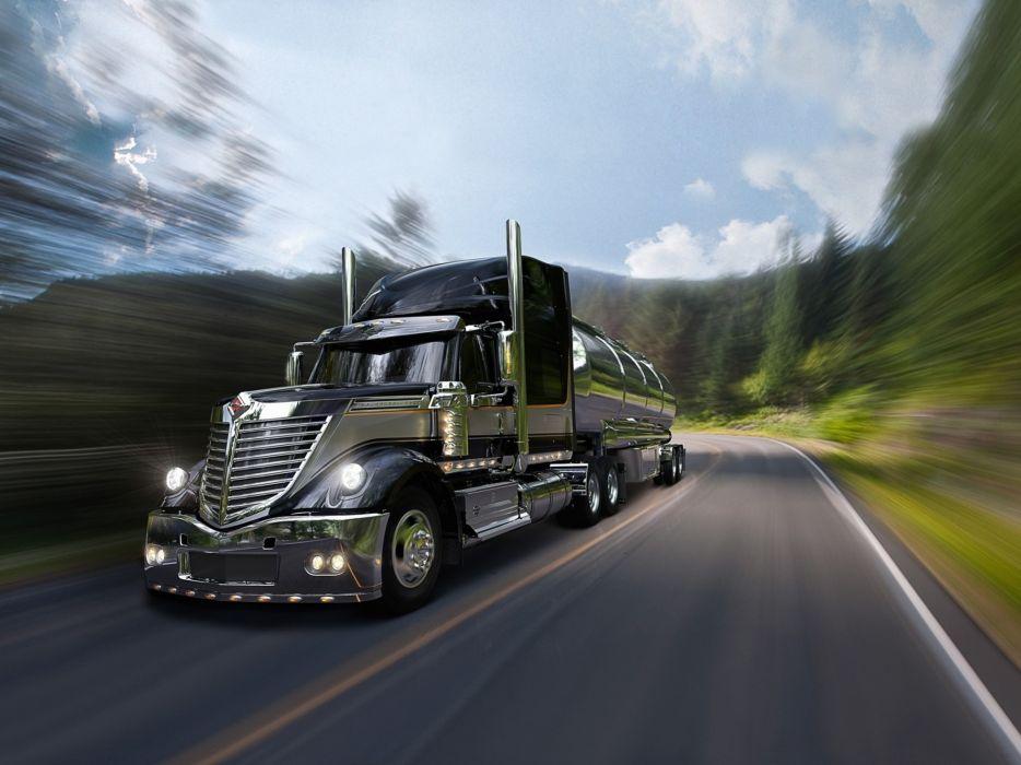 Trucks roads wallpaper