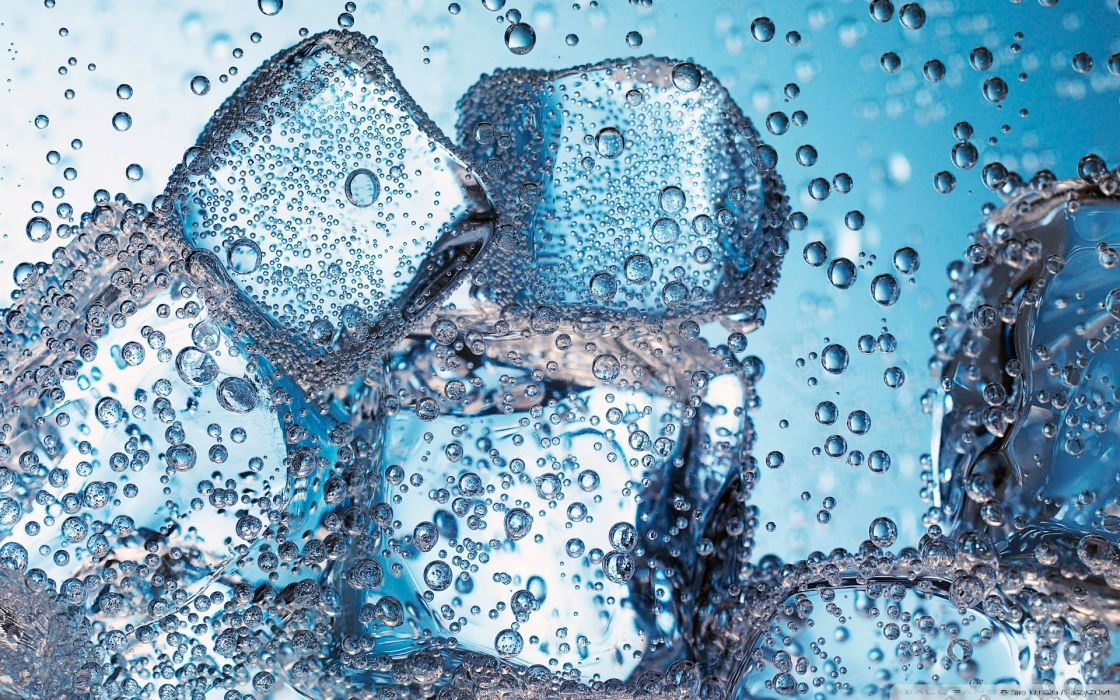 Water ice ice cubes wallpaper