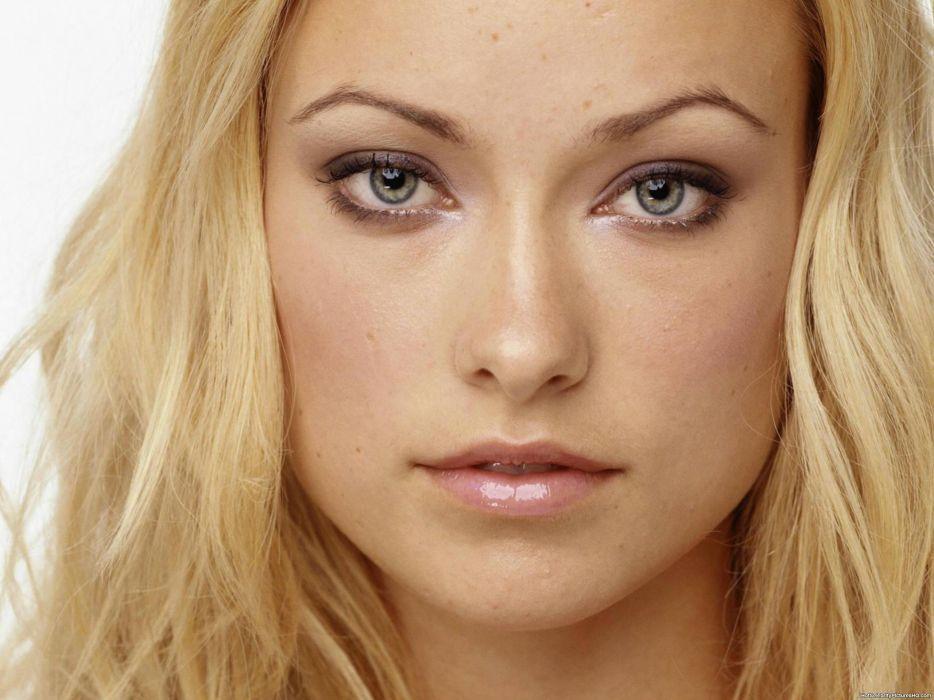 Brunettes blondes women eyes actress olivia wilde lips faces wallpaper