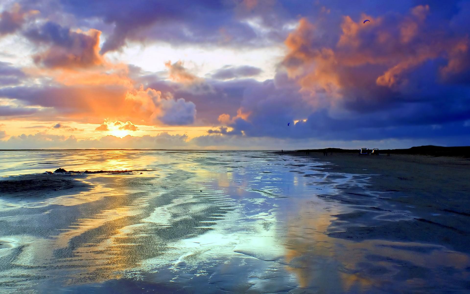 Закат неба