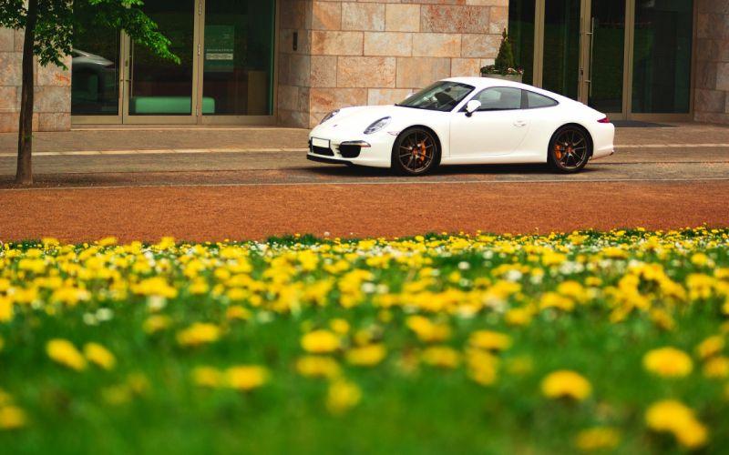 White flowers porsche cars porsche 911 wallpaper