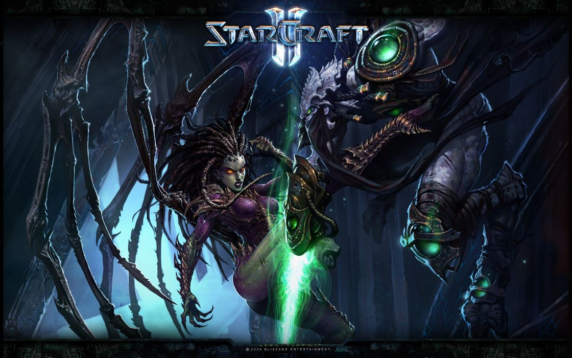 Sarah kerrigan queen of blades starcraft ii zeratul wallpaper