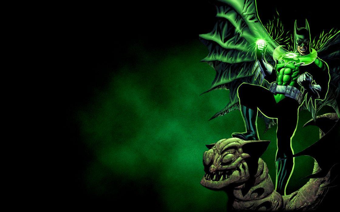 Green lantern batman dc comics wallpaper