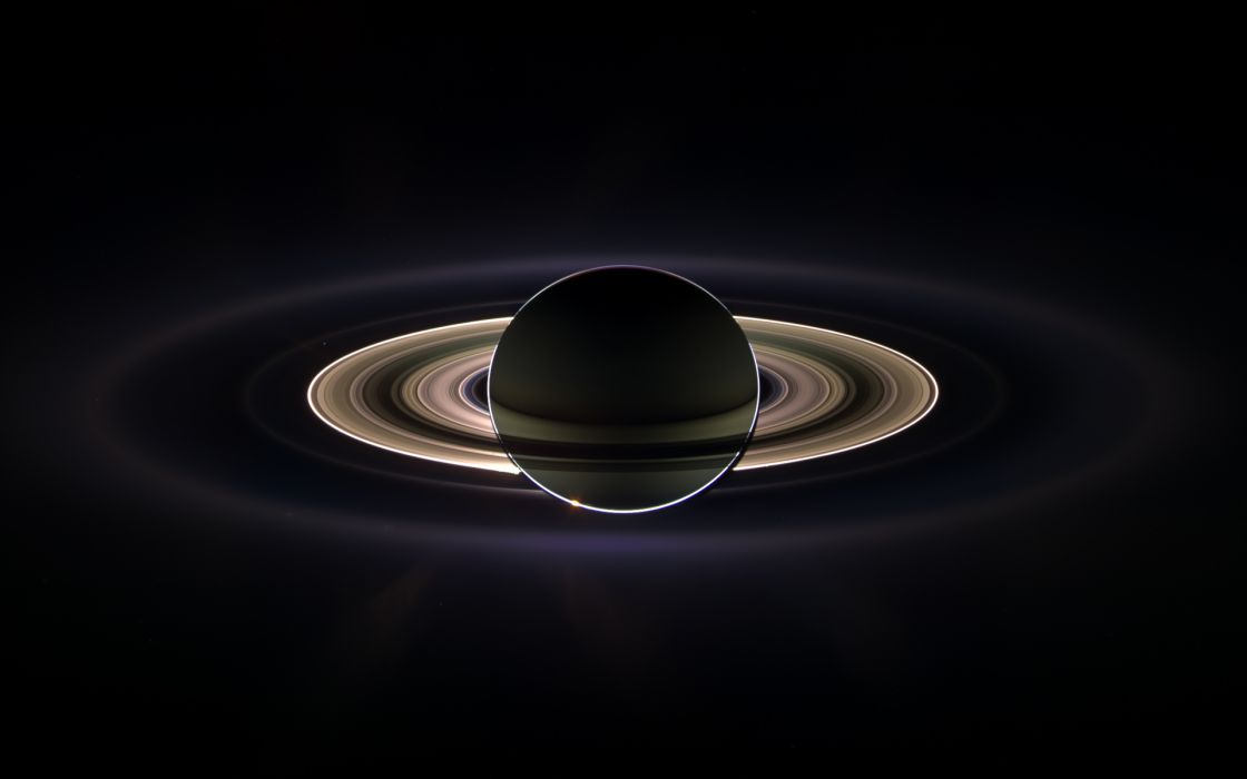 Outer space saturn wallpaper