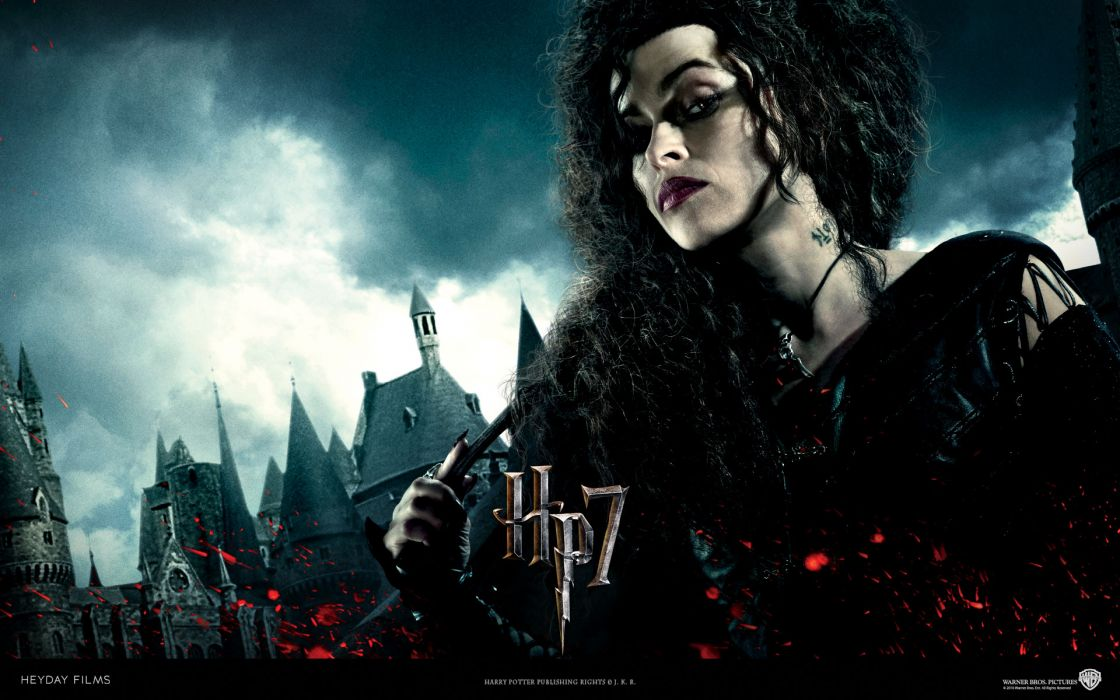 Harry potter helena bonham carter harry potter and the deathly hallows bellatrix lestrange death eaters wallpaper