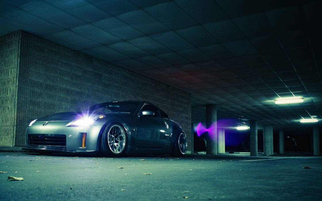 Cars nissan nissan 350z stance silver cars wallpaper