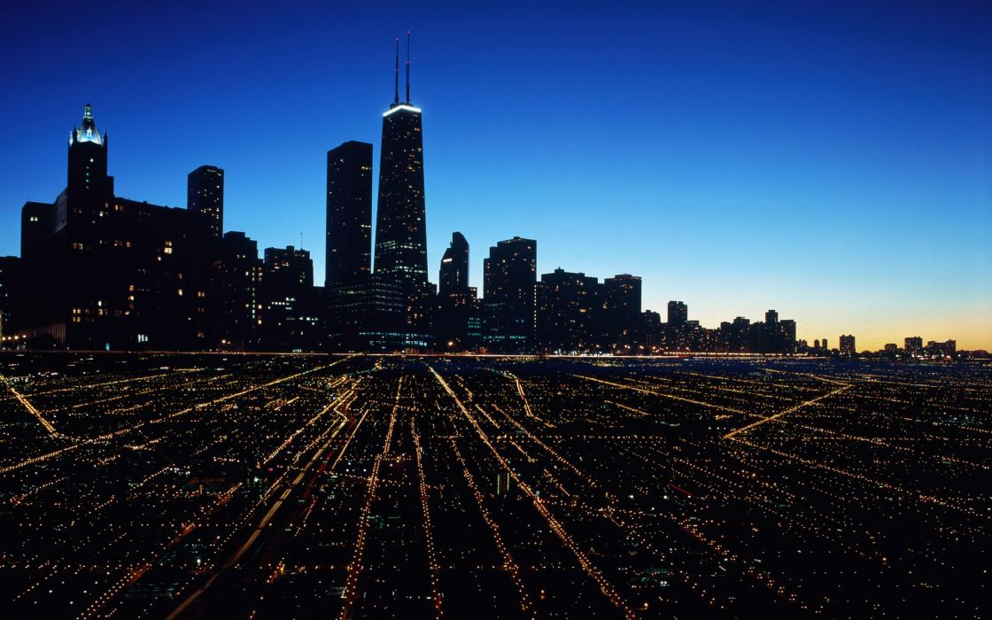 Cityscapes lights wallpaper