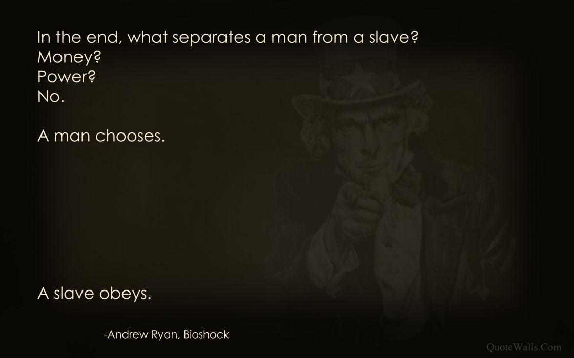 Bioshock quotes uncle sam wallpaper