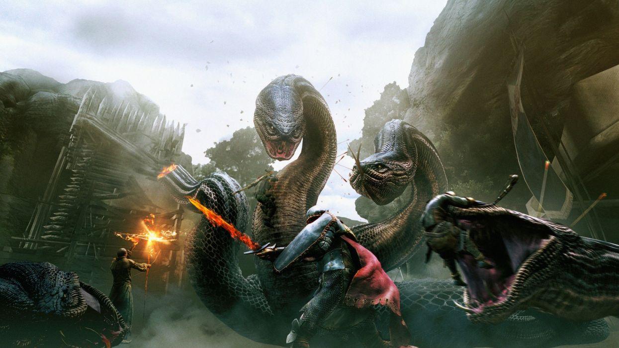 Hydra warriors medieval dragons dogma dogma key art wallpaper