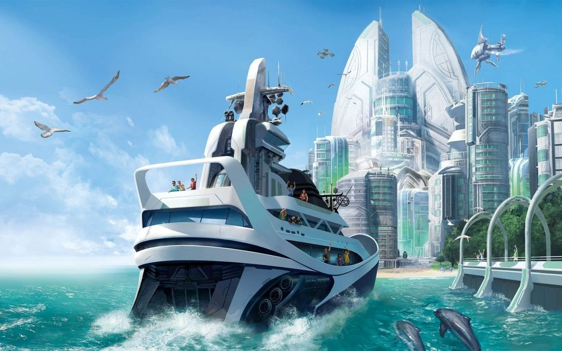 Water beach wall anno 2070 game wallpaper