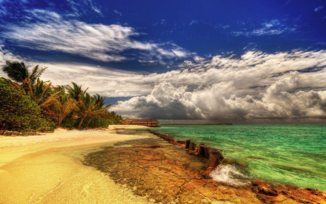 Landscapes beach wallpaper
