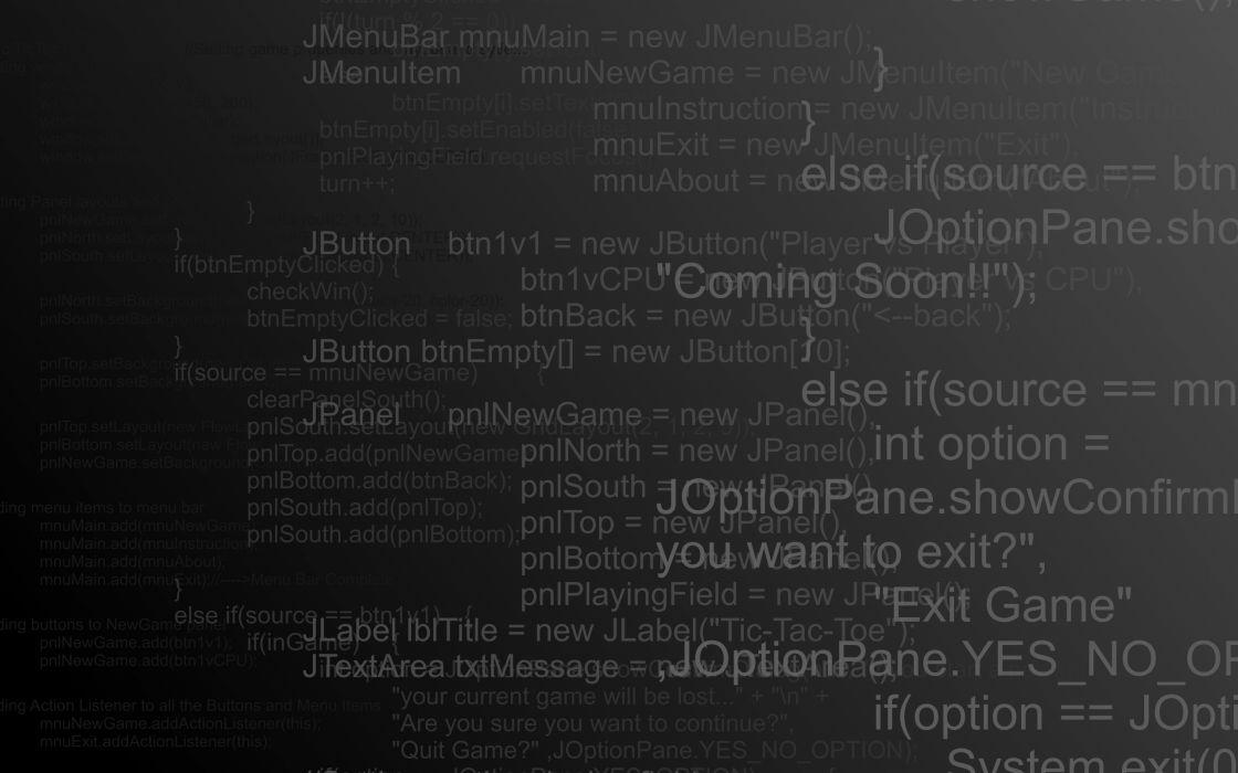 Computers programming technology code java wallpaper