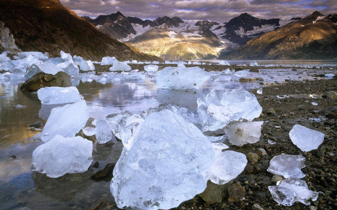 Landscapes nature lakes frozen lake wallpaper
