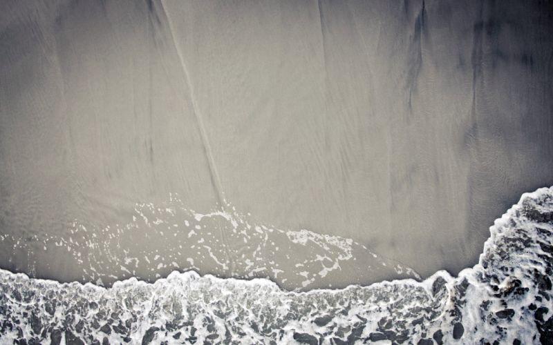 Beach sand waves textures wallpaper
