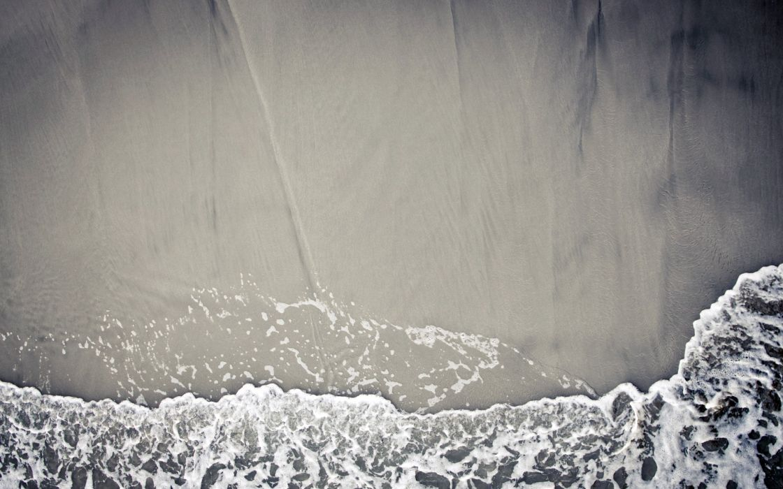 Beach sand waves textures wallpaper