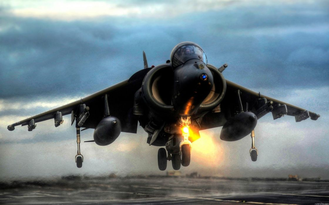 Military airplanes harrier vehicles wallpaper