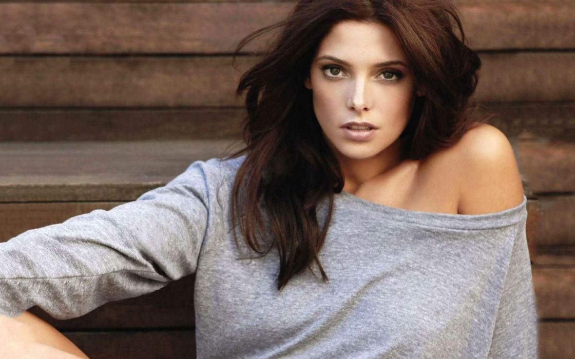 Brunettes women models ashley greene faces wallpaper
