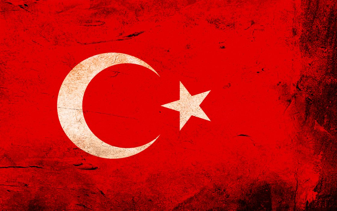 Grunge flags turkey wallpaper