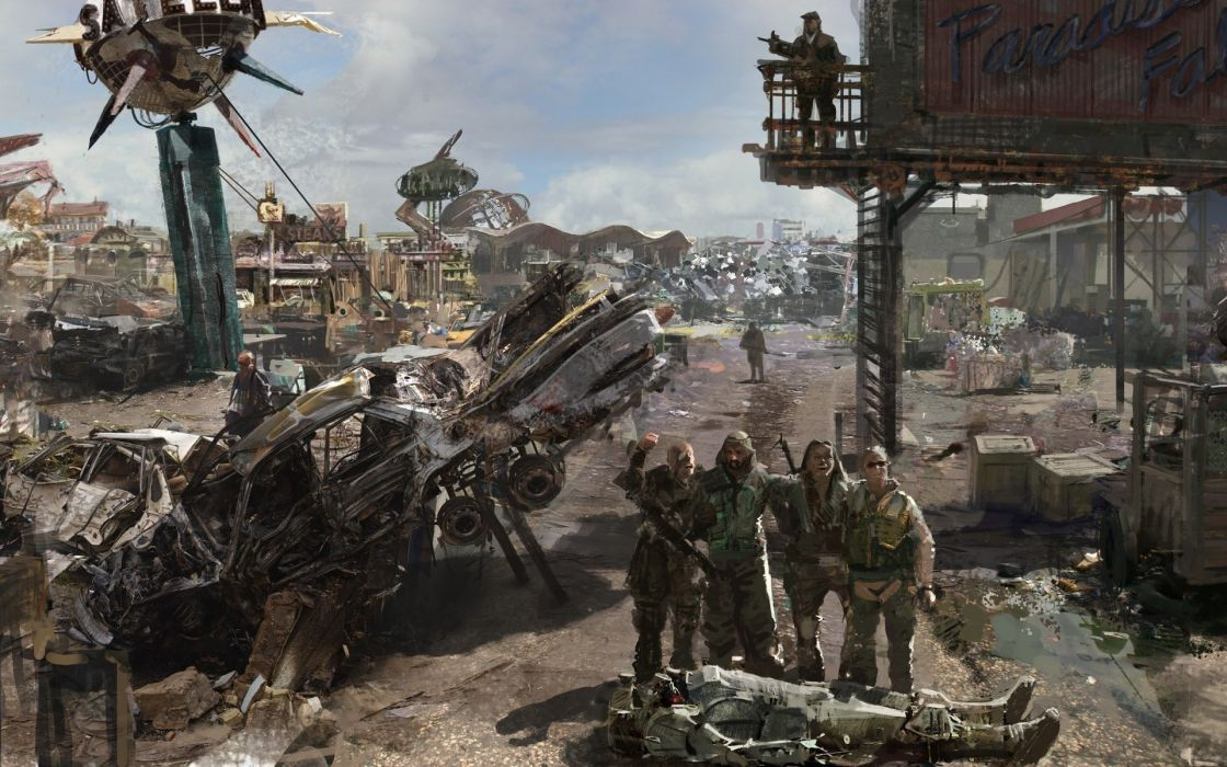 Apocalyptic wastelands fallout 3 wallpaper