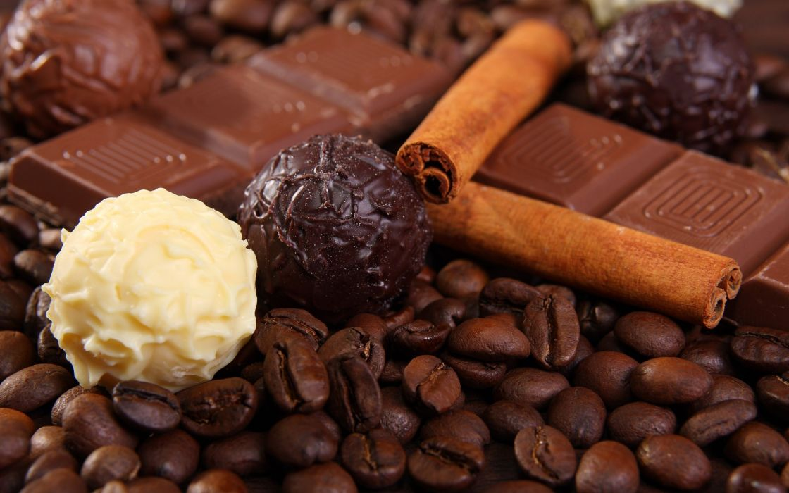 Chocolate food candy sweets (candies) cinnamon wallpaper
