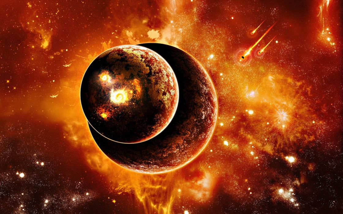 Outer space planets wallpaper