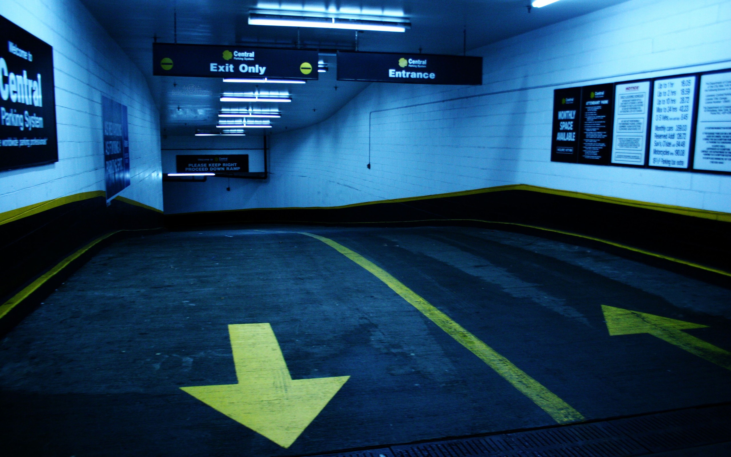 Urban Parking Lot Wallpaper 2560x1600 14460 Wallpaperup