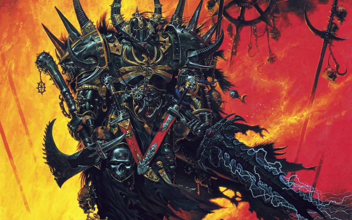 Warhammer weapons fantasy art armor artwork games wallpaper