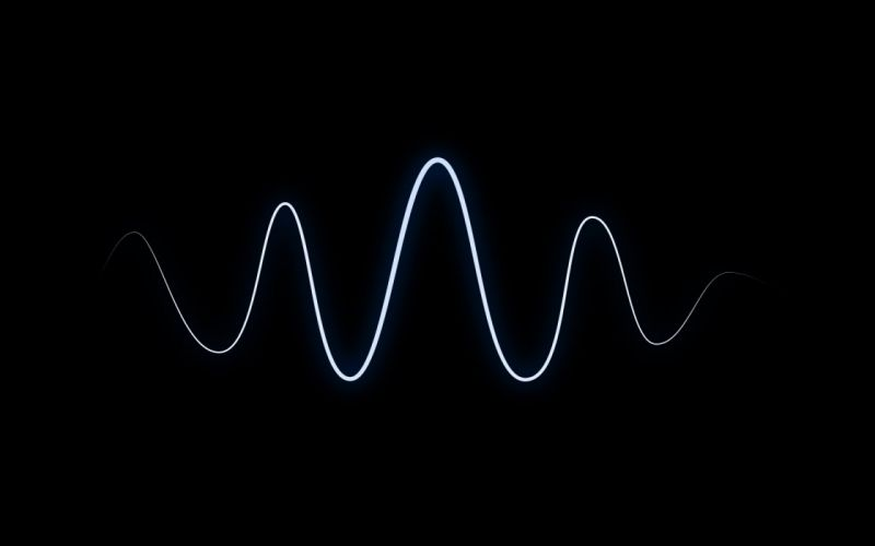 Black minimalistic waves black background wallpaper
