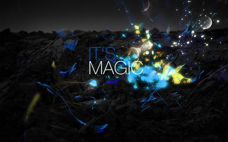 Abstract multicolor text typography digital art color splash wallpaper