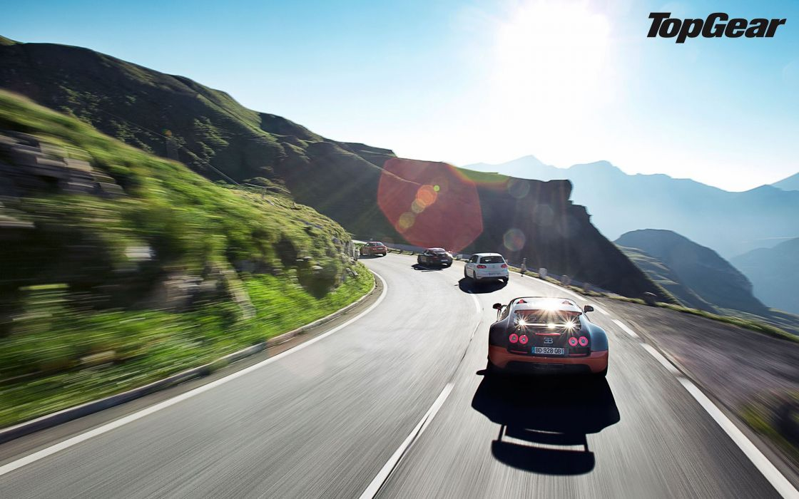 Cars top gear roads wallpaper