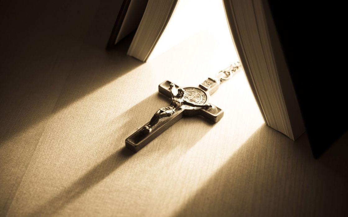 Cross bullshit religion books jesus christ saint benedict wallpaper