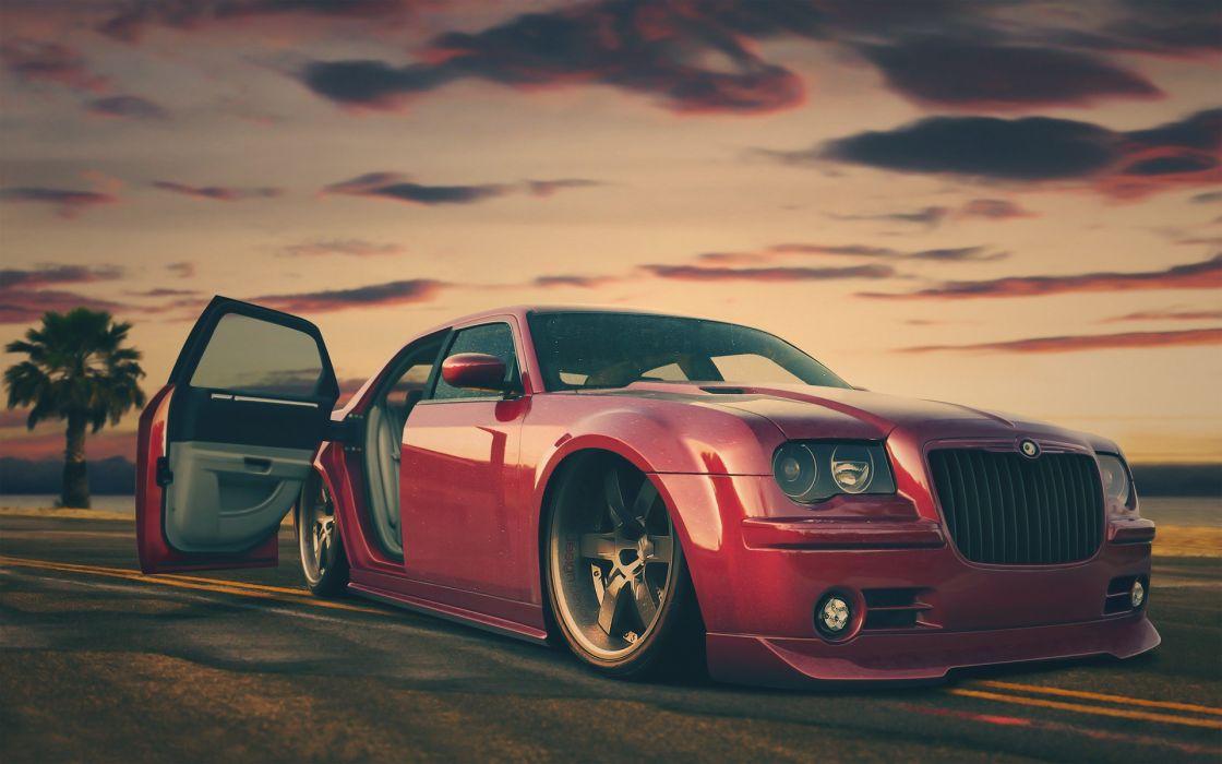 Red cars custom chrysler tuning chrysler 300c wallpaper