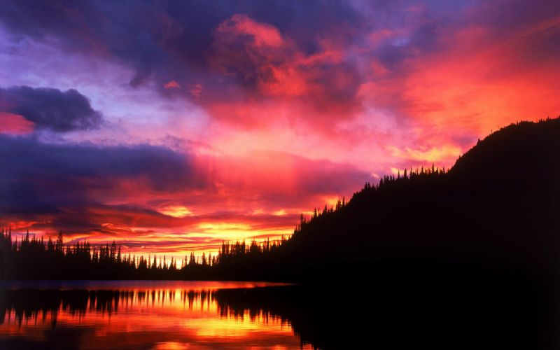 Sunset clouds landscapes nature wallpaper