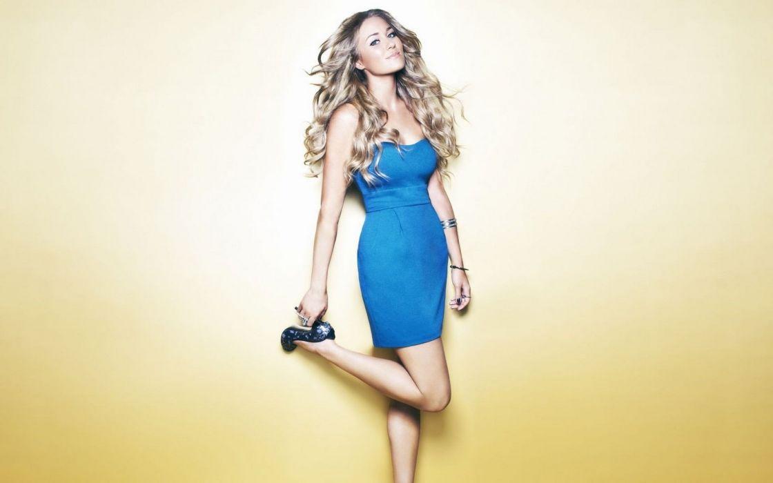 Women high heels lauren conrad blue dress wallpaper