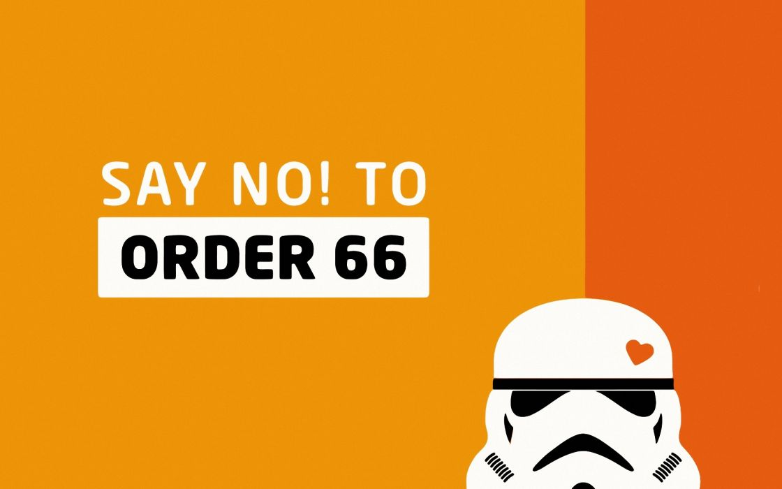 Star wars minimalistic stormtroopers order 66 wallpaper