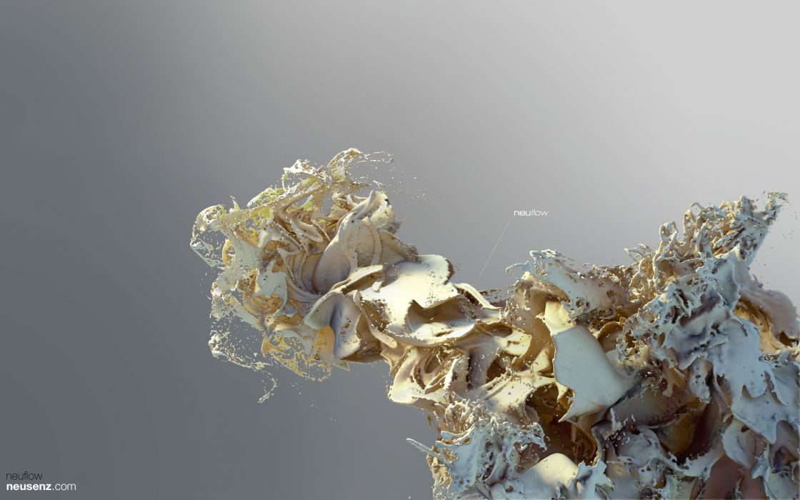Abstract 3d render xenodream neusenz render 3d splash splashes wallpaper