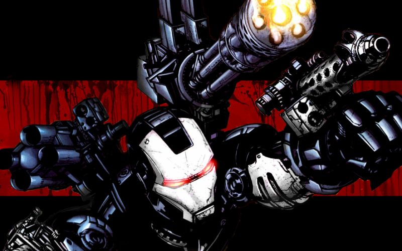 Iron man weapons war machine wallpaper