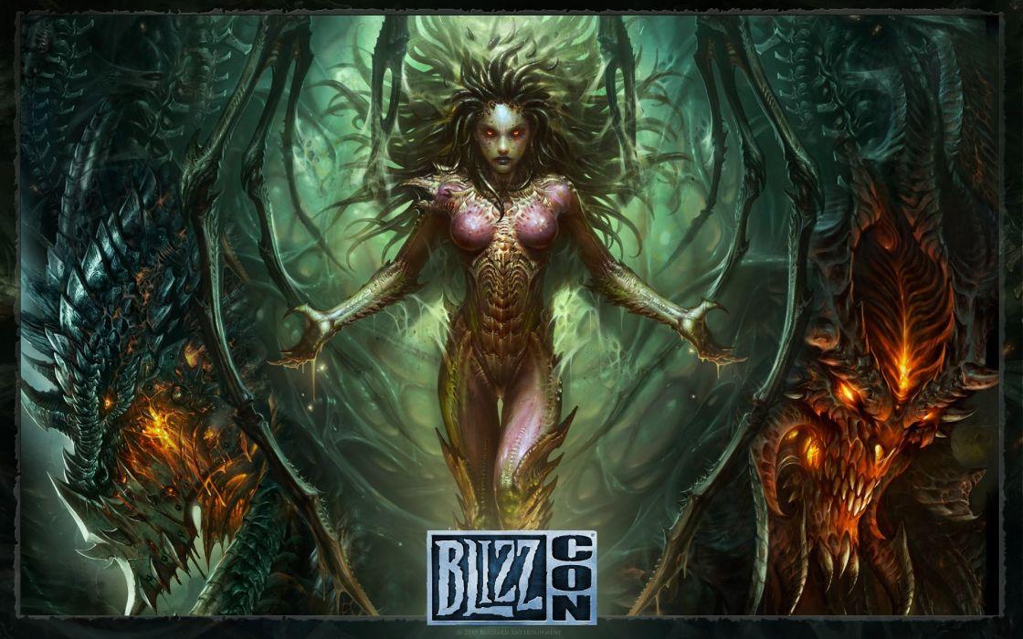 Video games wings zerg fantasy art deathwing blizzard entertainment artwork diablo swing orchestra sarah kerrigan queen of blades starcraft ii wallpaper