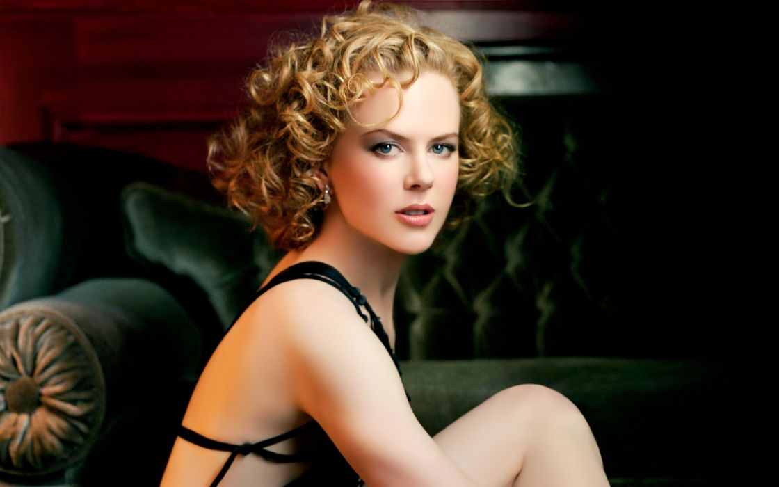 Blondes women actress celebrity nicole kidman curly hair wallpaper