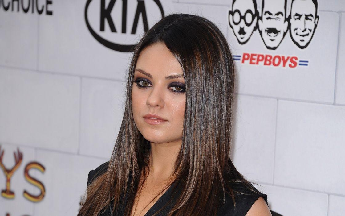 Brunettes women mila kunis actress celebrity wallpaper