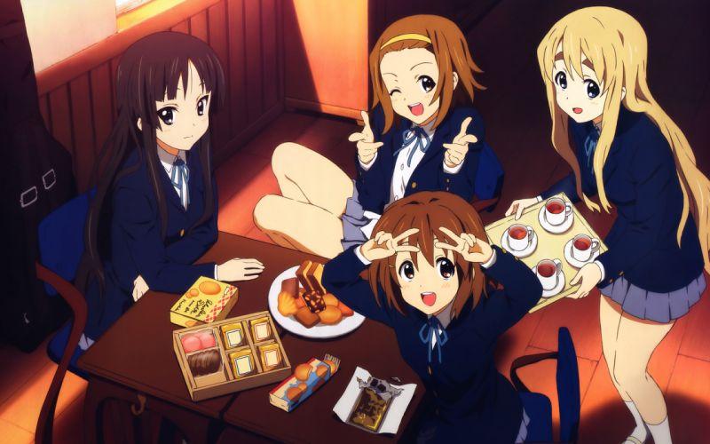 On! hirasawa yui akiyama mio tainaka ritsu kotobuki tsumugi anime girls wallpaper